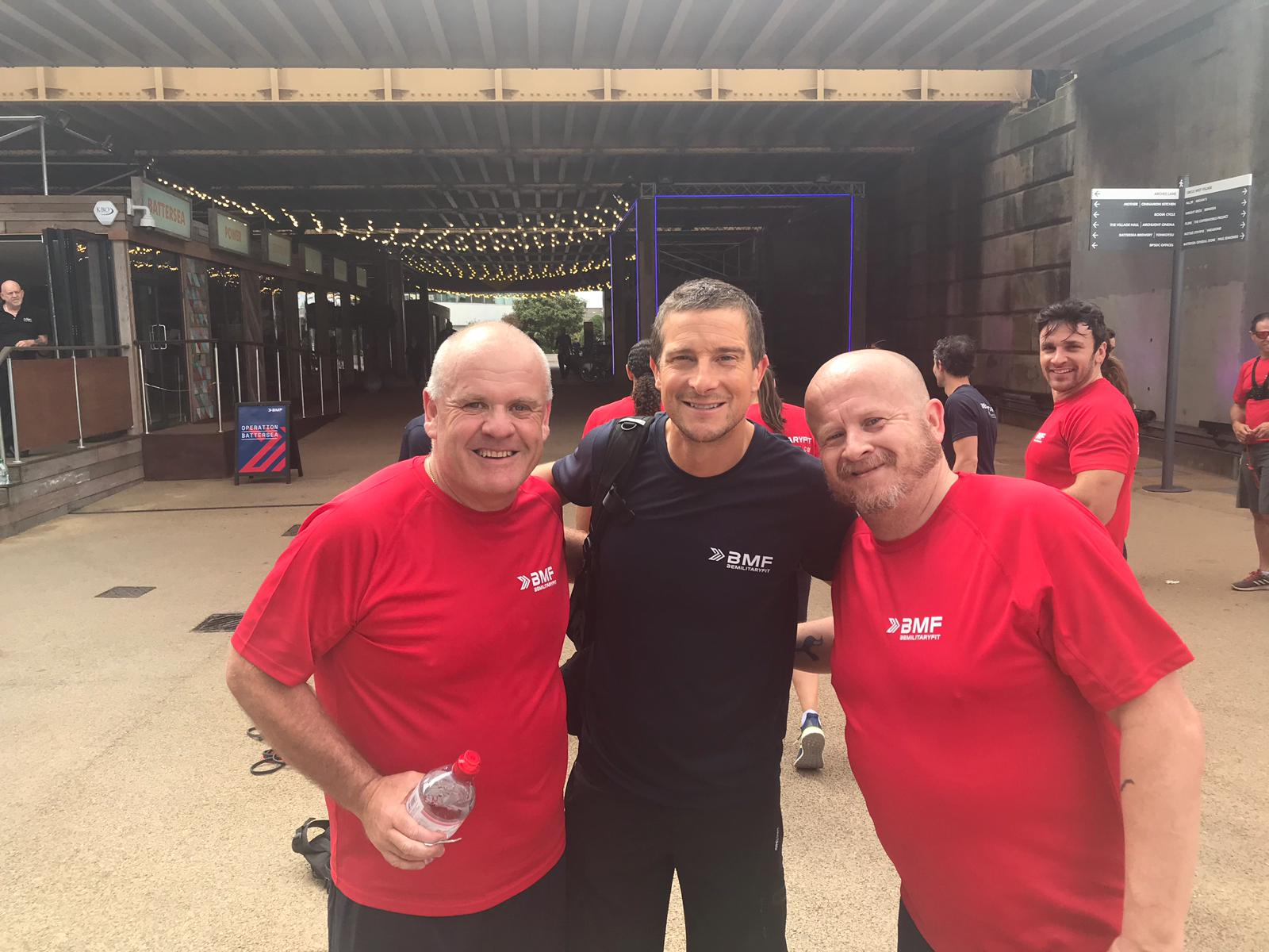 John and Brian with Bear Grylls